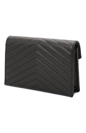 Женская сумка monogram envelope mini  SAINT LAURENT черного цвета, арт. 393953/B0W01 | Фото 3