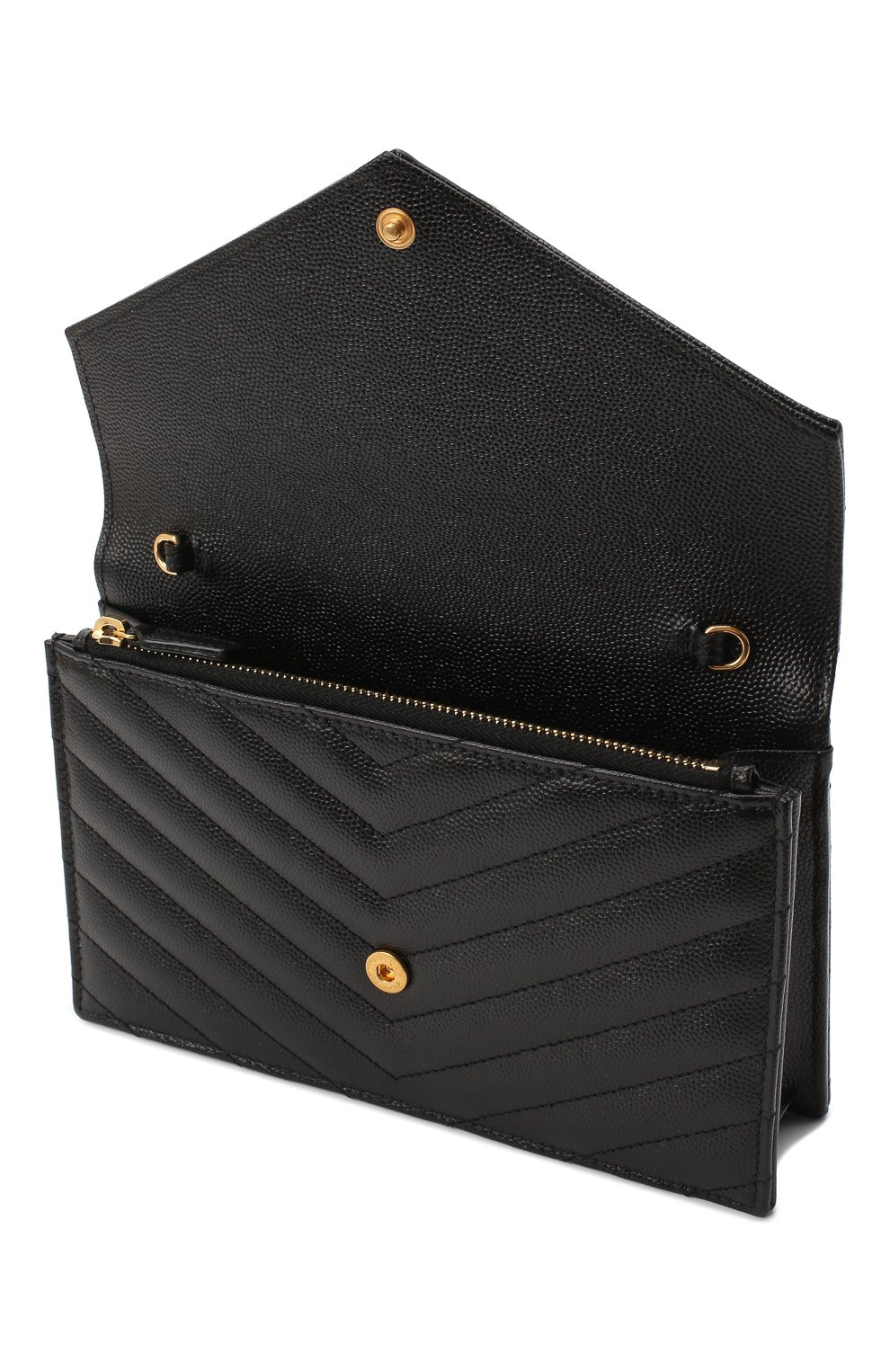 Женская сумка monogram envelope mini  SAINT LAURENT черного цвета, арт. 393953/B0W01 | Фото 4