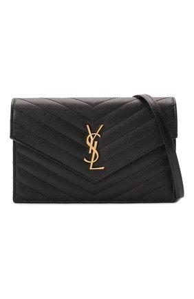 Женская сумка monogram envelope mini  SAINT LAURENT черного цвета, арт. 393953/B0W01 | Фото 5