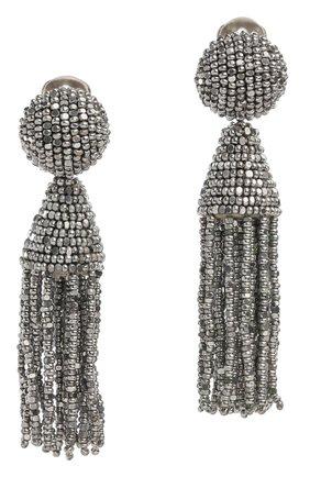 Женские клипсы OSCAR DE LA RENTA серебряного цвета, арт. 0J102SIL | Фото 1