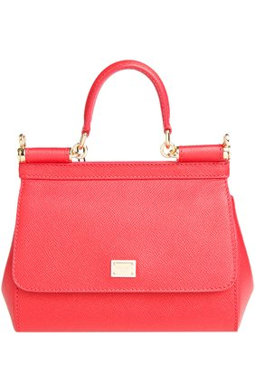 Сумка Sicily small Dolce & Gabbana красная цвета   Фото №1