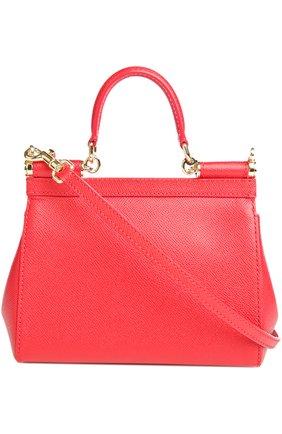 Сумка Sicily small Dolce & Gabbana красная цвета   Фото №2