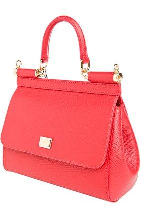 Сумка Sicily small Dolce & Gabbana красная цвета   Фото №3