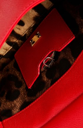 Сумка Sicily small Dolce & Gabbana красная цвета   Фото №4