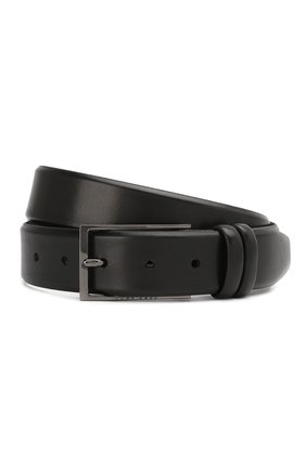 Мужской кожаный ремень BOSS черного цвета, арт. 50239979 | Фото 1