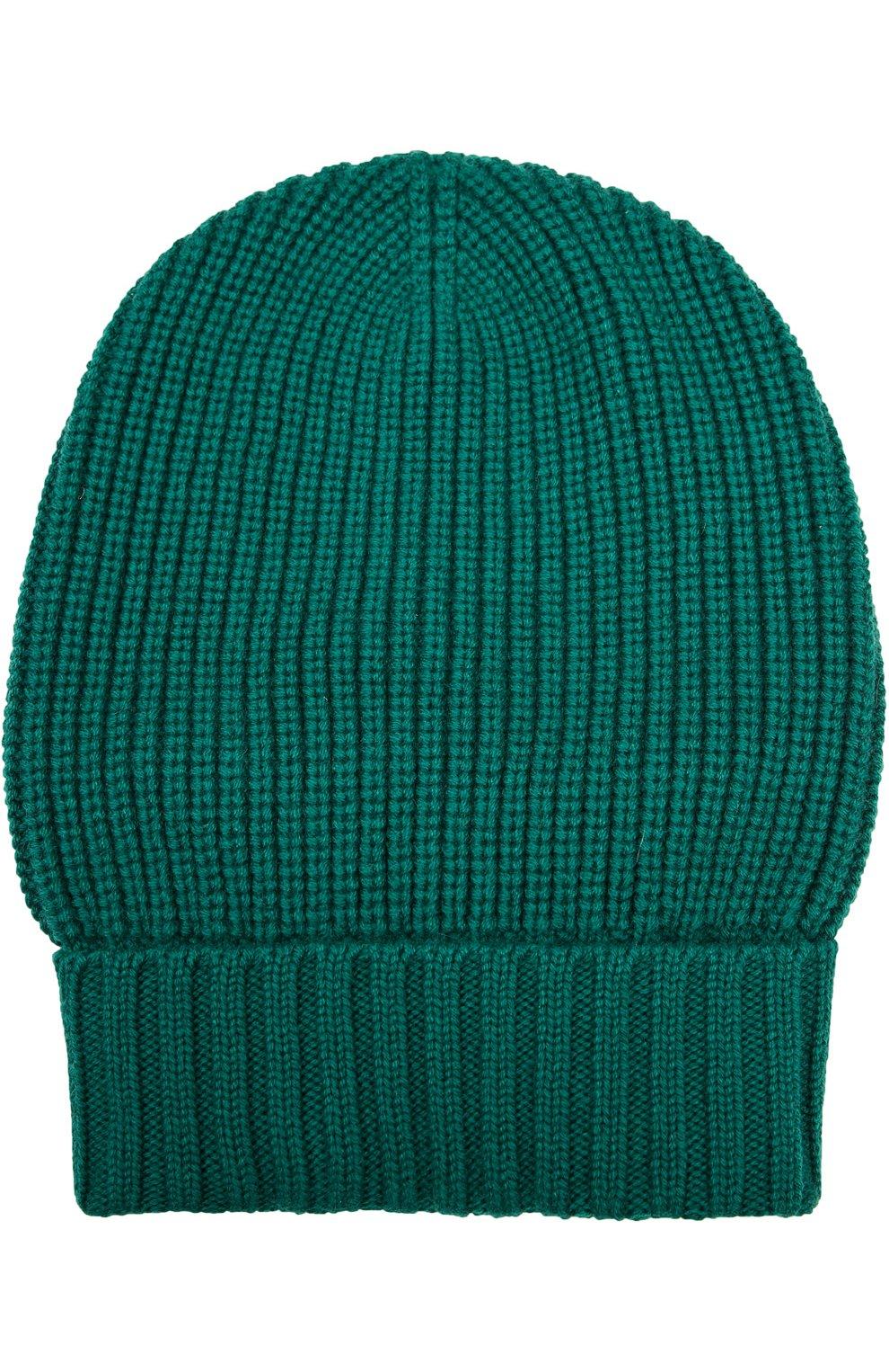 Кашемировая шапка с отворотом   Фото №1
