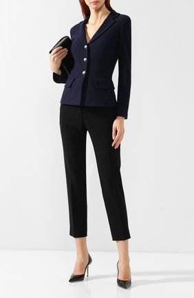 Женские брюки со стрелками ST. JOHN черного цвета, арт. K881W90 | Фото 2