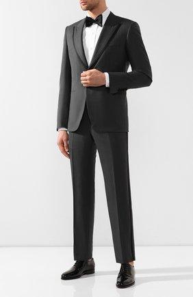 Мужские кожаные оксфорды KITON черного цвета, арт. USSCAR0/N114 | Фото 2