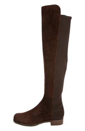 Комбинированные ботфорты на устойчивом каблуке | Фото №1