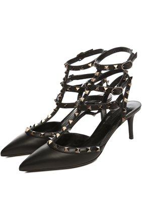 Женская кожаные туфли valentino garavani rockstud noir на шпильке VALENTINO черного цвета, арт. JW2S0375/V0G   Фото 2