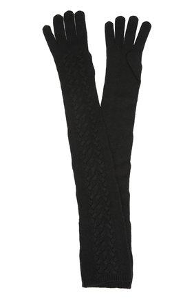 Вязаные перчатки Dolce & Gabbana черные | Фото №1
