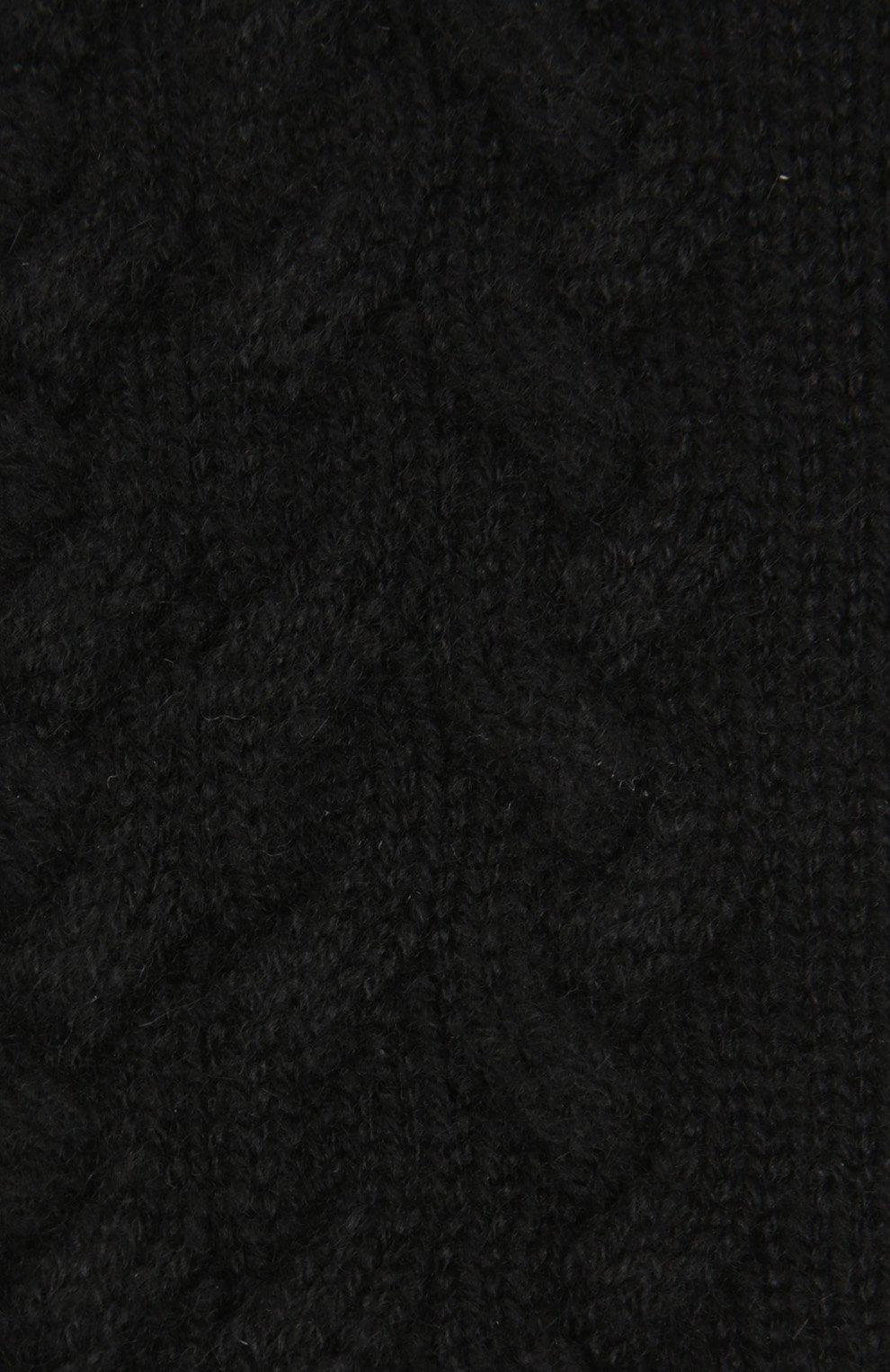 Вязаные перчатки Dolce & Gabbana черные | Фото №3