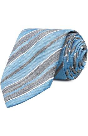 Мужской галстук BRIONI голубого цвета, арт. 063I/04496 | Фото 1