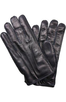 Мужские перчатки BRIONI темно-синего цвета, арт. 05R2/04752 | Фото 1