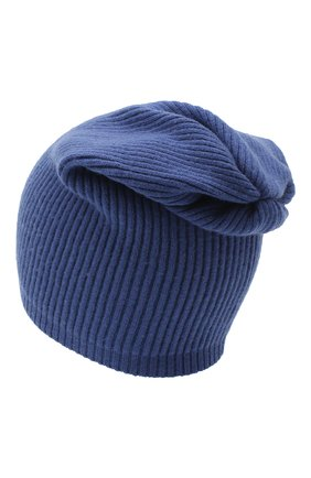 Мужская шапка из смеси шерсти и кашемира TEGIN синего цвета, арт. 1634 | Фото 2