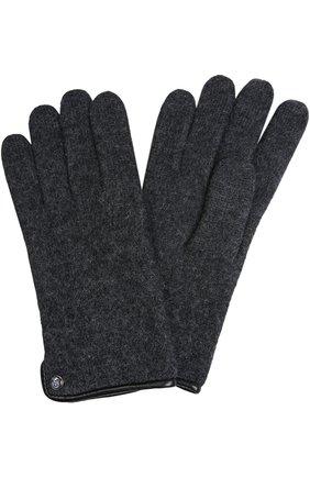 Мужские вязаные перчатки ROECKL темно-серого цвета, арт. 21013/501 | Фото 1