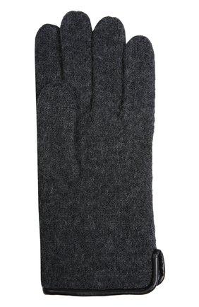 Мужские вязаные перчатки ROECKL темно-серого цвета, арт. 21013/501 | Фото 2