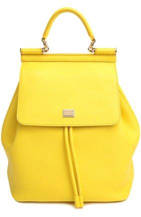 Кожаный рюкзак с клапаном Sicily Backpack   Фото №1