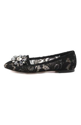 Женские текстильные слиперы rainbow lace DOLCE & GABBANA черного цвета, арт. 0112/CP0010/AL198 | Фото 2