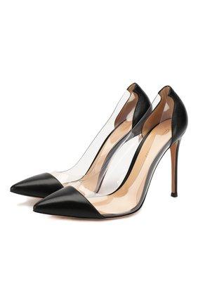 Кожаные туфли Plexi на шпильке   Фото №1