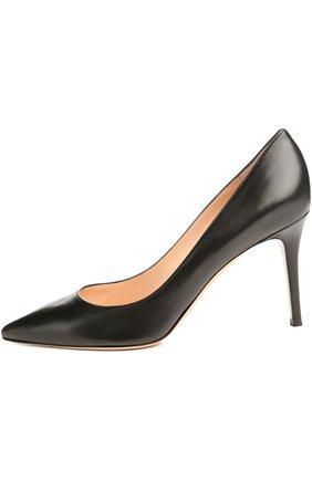 Кожаные туфли Gianvito 85 на шпильке   Фото №1