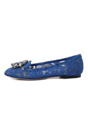 Женские текстильные слиперы rainbow lace DOLCE & GABBANA синего цвета, арт. 0112/CP0010/AL198 | Фото 2