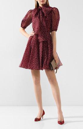 Женская текстильные туфли rainbow lace DOLCE & GABBANA красного цвета, арт. 0112/CD0066/AL198 | Фото 2
