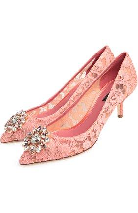 Женская текстильные туфли rainbow lace DOLCE & GABBANA розового цвета, арт. 0112/CD0066/AL198 | Фото 2