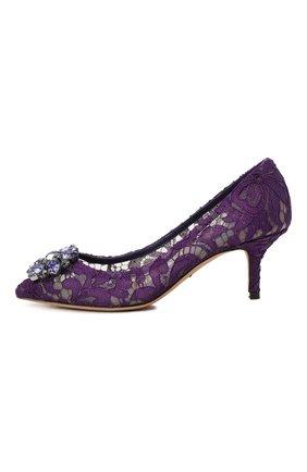 Женские текстильные туфли rainbow lace DOLCE & GABBANA фиолетового цвета, арт. 0112/CD0066/AL198 | Фото 2