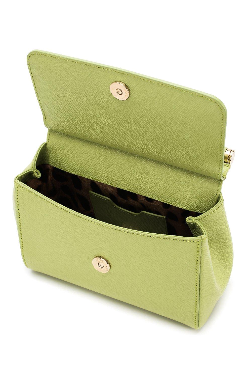 Сумка Sicily small Dolce & Gabbana зеленая цвета | Фото №4