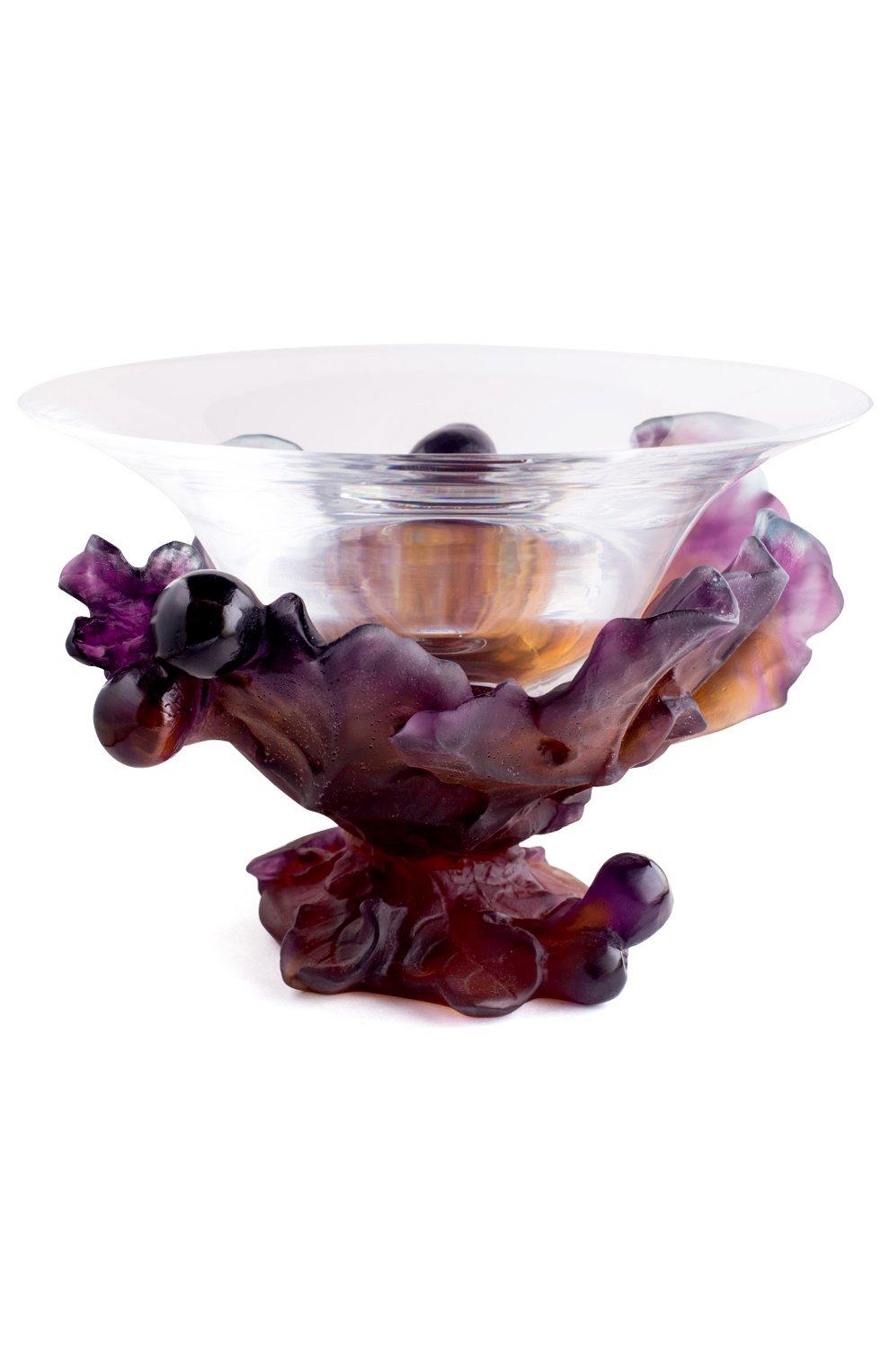 Мужского ваза для фруктов DAUM фиолетового цвета, арт. 01651 | Фото 1