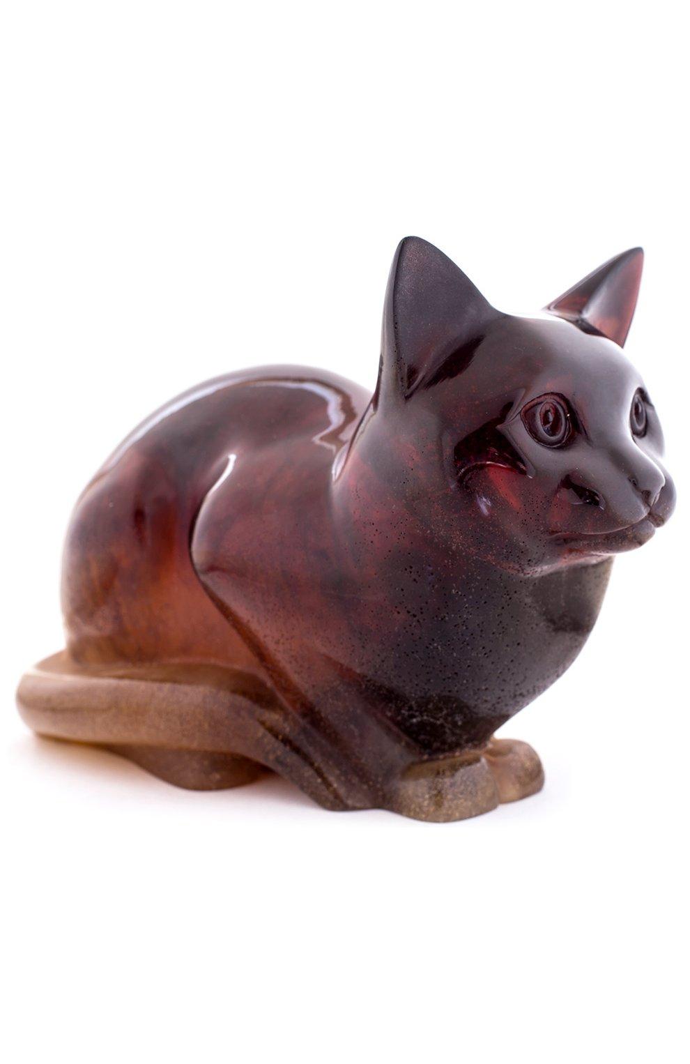 Мужского скульптура кошка DAUM бордового цвета, арт. 02448   Фото 1