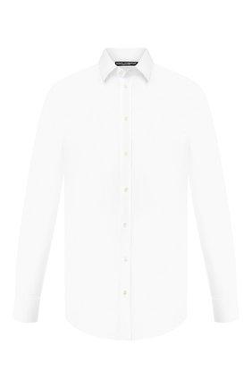 Мужская хлопковая сорочка DOLCE & GABBANA белого цвета, арт. 0101/G5CX5T/FUEAJ | Фото 1