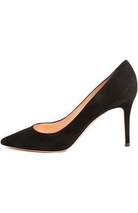 Женские замшевые туфли gianvito 85 на шпильке GIANVITO ROSSI черного цвета, арт. G24580/SUEDE | Фото 1