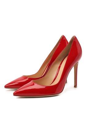Женские лаковые туфли gianvito 105 на шпильке GIANVITO ROSSI красного цвета, арт. G28470/PATENT | Фото 1