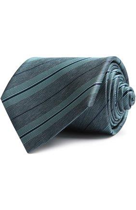 Мужской галстук BRIONI зеленого цвета, арт. 062H/P5477 | Фото 1