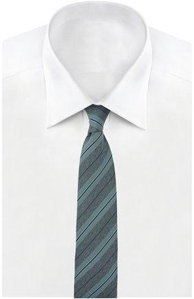 Мужской галстук BRIONI зеленого цвета, арт. 062H/P5477 | Фото 2