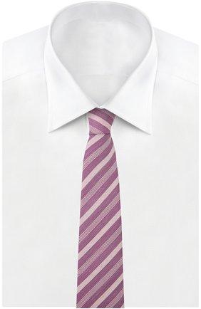 Мужской галстук BRIONI малинового цвета, арт. 062H/P540V | Фото 2