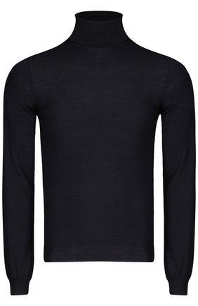 Вязаный свитер malo черный | Фото №1