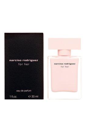 Женский парфюмерная вода for her NARCISO RODRIGUEZ бесцветного цвета, арт. 892565BP | Фото 2
