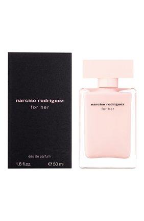 Женский парфюмерная вода for her NARCISO RODRIGUEZ бесцветного цвета, арт. 890135BP   Фото 2