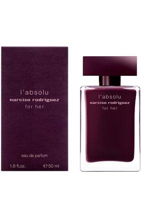 Женский парфюмерная вода for her absolu NARCISO RODRIGUEZ бесцветного цвета, арт. 892945BP   Фото 1