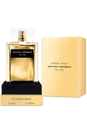 Женский парфюмерная вода for her amber musc NARCISO RODRIGUEZ бесцветного цвета, арт. 892005BP   Фото 1