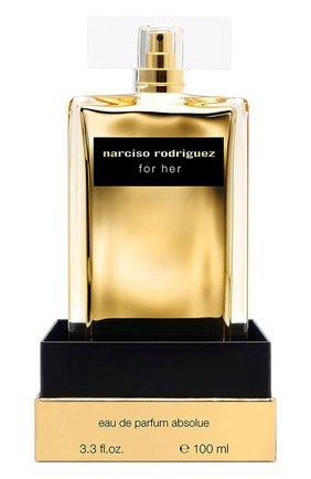 Женский парфюмерная вода for her amber musc NARCISO RODRIGUEZ бесцветного цвета, арт. 892005BP   Фото 2