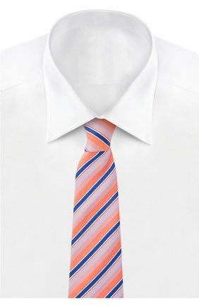 Мужской галстук BRIONI оранжевого цвета, арт. 062I/P5406 | Фото 2