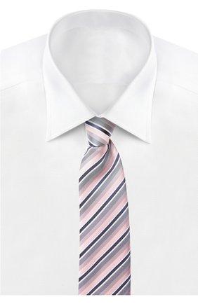 Мужской галстук BRIONI светло-розового цвета, арт. 062I/P5406 | Фото 2