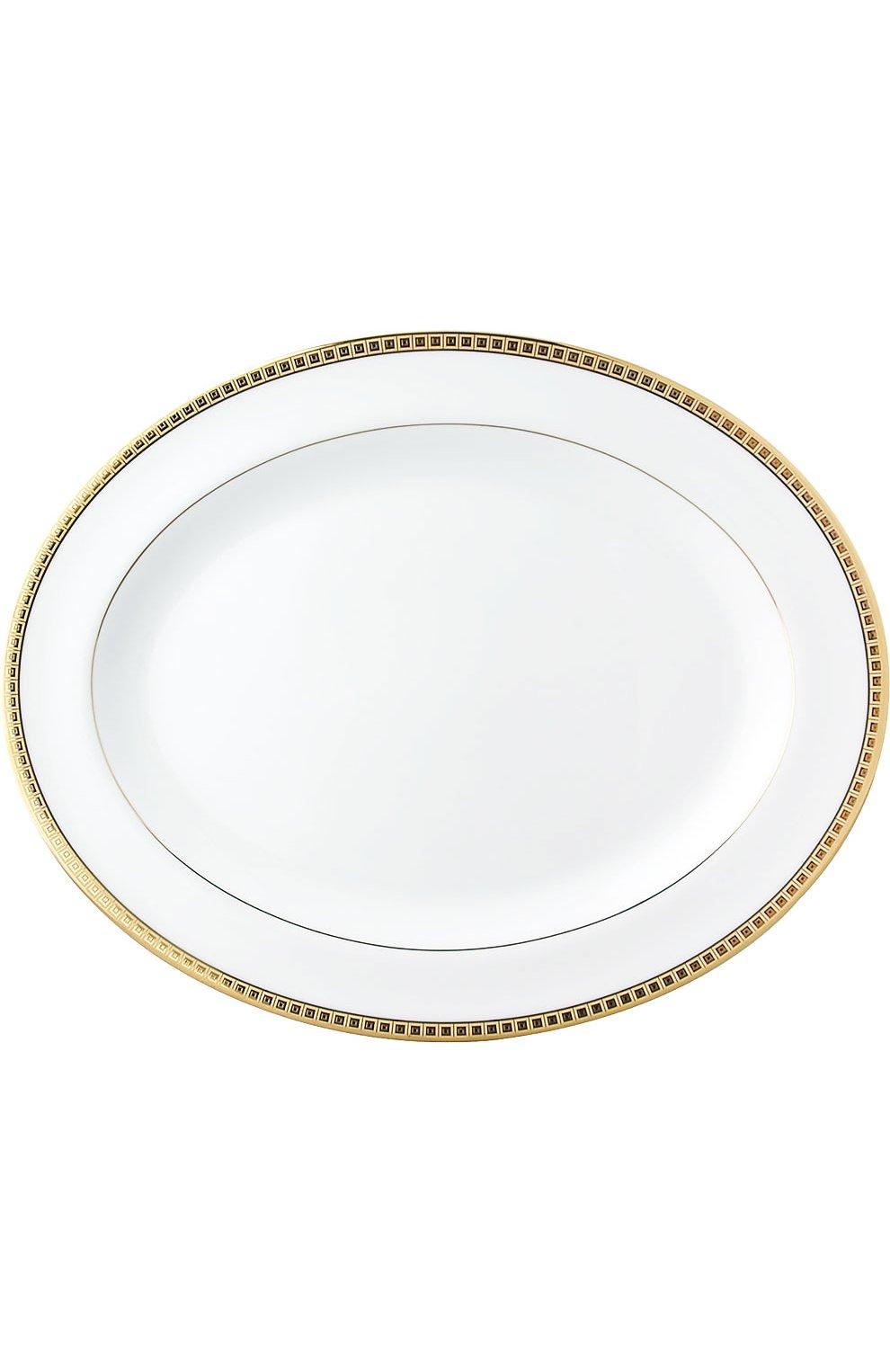 Мужского блюдо овальное athena gold BERNARDAUD бесцветного цвета, арт. 0467/107 | Фото 1