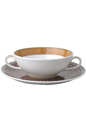 Мужского пиала для супа с блюдцем grand versailles BERNARDAUD бесцветного цвета, арт. 0696/77   Фото 1