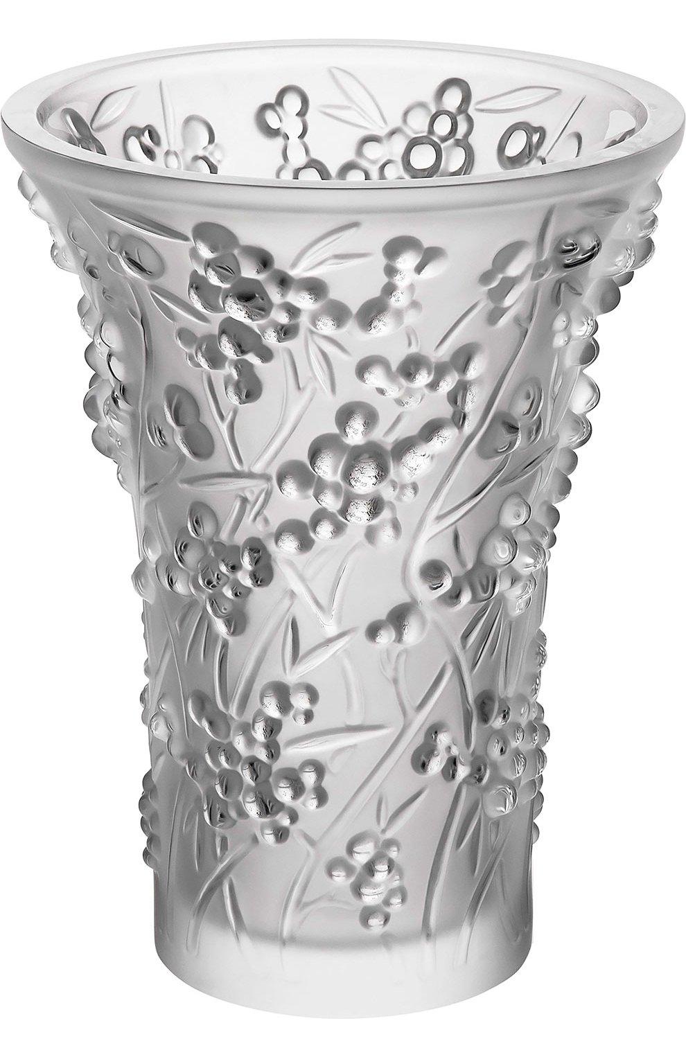 Мужского ваза berries LALIQUE бесцветного цвета, арт. 10329400   Фото 1