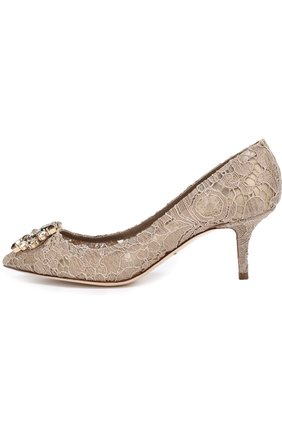 Женская текстильные туфли rainbow lace DOLCE & GABBANA золотого цвета, арт. 0112/CD0066/AL198 | Фото 2